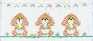 21972: Cross-eyed Cricket CEC128 Baby Lops Smocking Plate