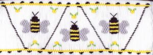 Cross-eyed Cricket CEC202 Bee Bumbly Smocking Plate