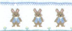 Cross-eyed Cricket CEC107 Bosley's Bunnies #107 Smocking Plate
