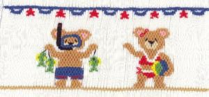 Cross-eyed Cricket  CEC172 Beach Buddies Smocking Plate