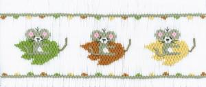 Cross-eyed Cricket CEC152 Fall Leaves Smocking Plate
