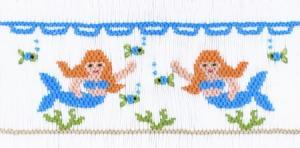 Cross-eyed Cricket 148, Mermaids Playground Smocking Plate Sewing Pattern