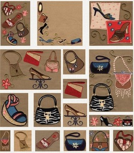 Anita Goodesign 10MAGHD Shoes & Handbags Mini Collection Multi-format Embroidery Design Pack on CD