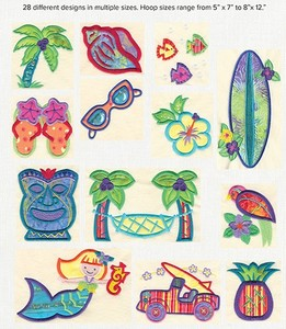 Anita Goodesign 09BAG Aloha Baby Collection Multi-Format Embroidery Design Pack on CD