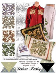 Anita Goodesign 92AGHD Pfaff Fashion Paisley Multi-format Embroidery Design Pack on CD