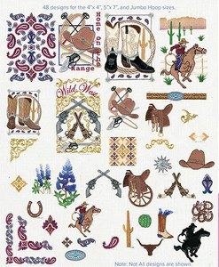 Anita Goodesign 44AGHD Wild West Embroidery Design CD