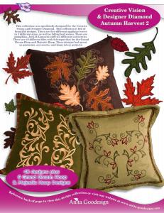 Anita Goodesign 101AGHD Pfaff Autumn Harvest 2 Full Collection Multi-format Embroidery Design Pack on CD