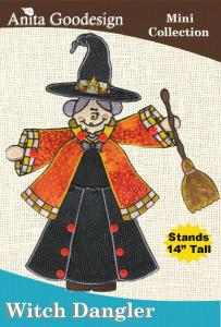 Anita Goodesign 43MAGHD Witch Dangler Multi-format Embroidery Design CD