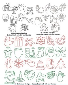 Anita Goodesign 64AGHD, Quilters Holiday Multi-format 45 Embroidery Designs Pack on CD