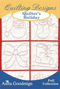 Anita Goodesign 64AGHD Quilters Holiday Multi-format Embroidery Design Pack on CD