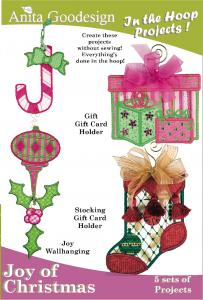 Anita Goodesign 12AGPJ Joy of Christmas Multi Format Embroidery Designs CD