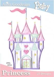 Anita Goodesign 02BAG Princess Multi-format Embroidery Design Pack on CD