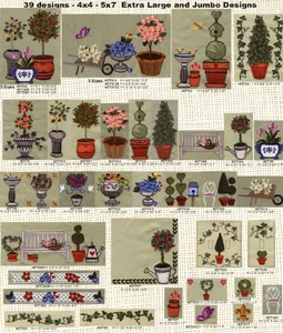 Anita Goodesign 25AGHD Topiary Trees Embroidery Designs CD