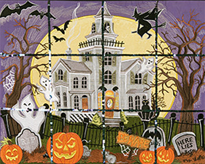 Anita Goodesign 66AGHD Haunted House Full Collection Multi-format Embroidery Design Pack on CD