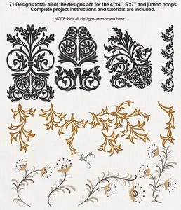 Anita Goodesign 87AGHD POSHabilities Multi-format Embroidery Design Pack on CD