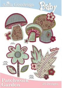 Anita Goodesign 07BAG Patchwork Garden Baby Collection Multi-format Embroidery Design Pack on CD