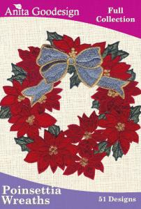 Anita Goodesign 34AGHD Poinsettia Wreaths Full Collection CD