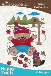 Anita Goodesign 16AGHD Happy Trails Mini Collection Multi-format Embroidery Design Pack on CD