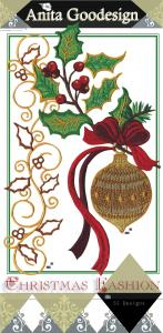 Anita Goodesign 95AGHD Christmas Fashion Multi-format Embroidery Design Pack on CD
