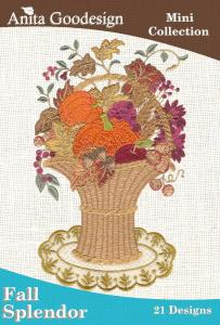 Anita Goodesign 42MAGHD Fall Splendor Mini Collection Multi-format Embroidery Design Pack on CD