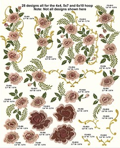 Anita Goodesign 64MAGHD In Bloom Mini Collection Multi-format Embroidery Design Pack on CD