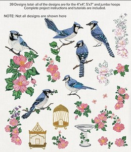 Anita Goodesign 90AGHD Blue Jays Multi-format Embroidery Design Pack on CD