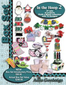 Anita Goodesign BX007 In the Hoop 2 Multi-format Embroidery Design Pack on CD