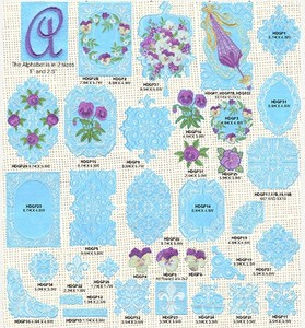 Anita Goodesign 45AGHD Pansy Monogram Full Collection Multi-format Embroidery Design Pack on CD