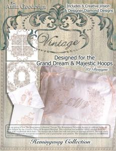 Anita Goodesign 77AGHD Pfaff Hemingway Multi-format Embroidery Design Pack on CD