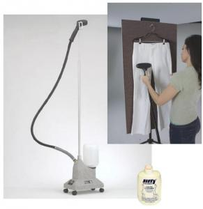"Jiffy J-2 Garment Steamer +0893 Vertical Ironing Steam Board 24 x 48"" +$10 Essential Jiffy Liquid Cleaner"