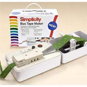 "Simplicity 881925 1"" Wide Tip, Bias Tape Maker Machine, Folds and Irons 2"" Wide Fabric Strip up to 12' Length of Binding Per Minute"