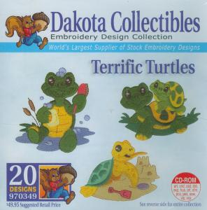 Dakota Collectibles 970349 Terrific Turtles Embroidery Designs Multi-Formatted CD