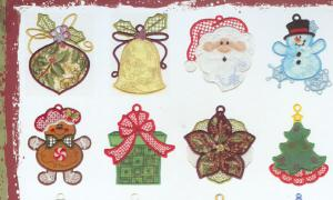 Dakota Collectibles 970383 Applique' Christmas Ornaments CD