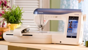 "22851: Brother NV2500D Trade In 419 Stitch Sewing 6x10""Embroidery Machine USB, Color LCD, Bonus Upgrade to NV2800D"