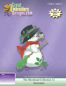 Great Notions 112221 MH12 Morehead Collection Jumbo Snowman Multi-Formatted Embroidery Designs CD