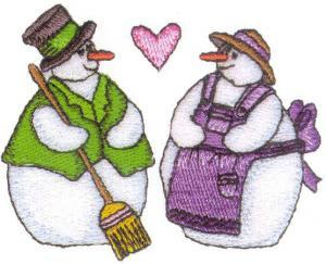 Amazing Designs ENHMC 1114 / 114Frosty Friends Collection I Janome Elna Embroidery Card