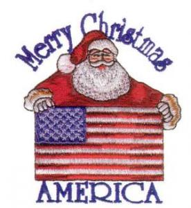 Amazing Designs ENHMC 1115 Americana Christmas Collection I Janome Elna  Embroidery Card