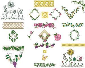 Amazing Designs ENHMC AR1 Ann Regals Fashion Embellishments Janome Elna Embroidery Card