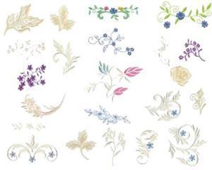 Amazing Designs ENHMC JM1 Elegant Accents Janome Elna  Embroidery Card