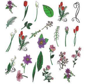 Amazing Designs ENHMC NZ10 Blooming Elegance Janome Elna Embroidery Card