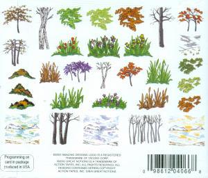 Amazing Designs ENHMC NZ9 Four Seasons Landscape Janome Elna Embroidery Card