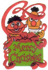 Amazing Designs ENHMC SS5 Sesame Street Christmas Collection I Janome Elna Embroidery Card