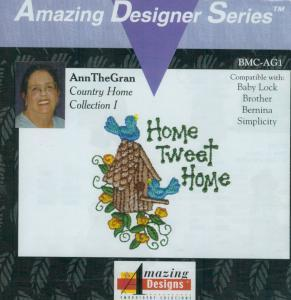 Amazing Designs HMC AG1 AnnTheGran Country Home Collection I Viking  Embroidery Card