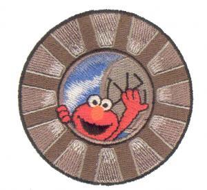 Amazing Designs PFMC SS4 Elmo in Grouchland Collection 1 Pfaff Embroidery Card