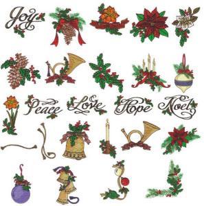 Amazing Designs PFMC NZ11 Christmas Pfaff Embroidery Card