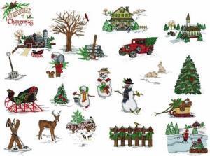 Amazing Designs PFMC NZ3 Memories of Christmas Pfaff Embroidery Card