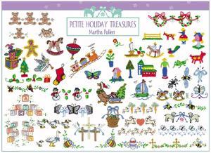 Amazing Designs PFMC MP2 Pfaff Embroidery Card Martha Pullen Petite Holiday Treasures