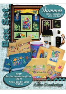 Anita Goodesign BX022 Summer Box Set Embroidery Collection