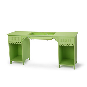 "23166: Arrow 1004DL Olivia Pistachio Green Sewing Machine Cabinet, 64x20x30""H"