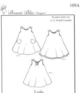 Bonnie Blue BBDP109 Lydias Swing Play Dress, Smock Jumper, Panty Pattern  Size 6mo-24mo or 2 yrs-6